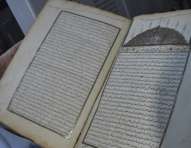First book printed in Ottoman press kept safe in special room
