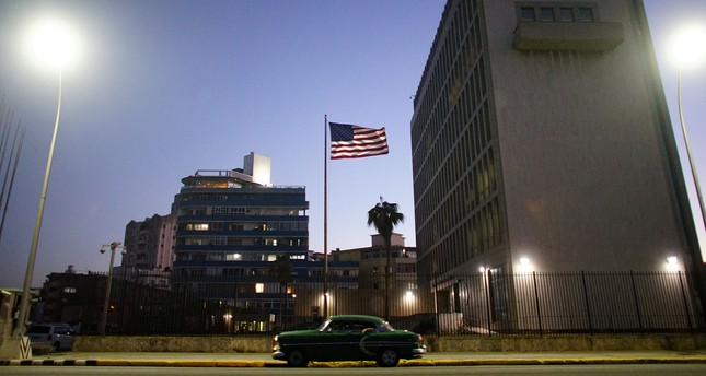 A vintage car passes by in front of the U.S. Embassy in Havana, Cuba, January 12, 2017. (REUTERS Photo)