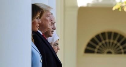 ترامب يرحب بالرئيس أردوغان في البيت الأبيض مع بدء الاجتماع الثنائي