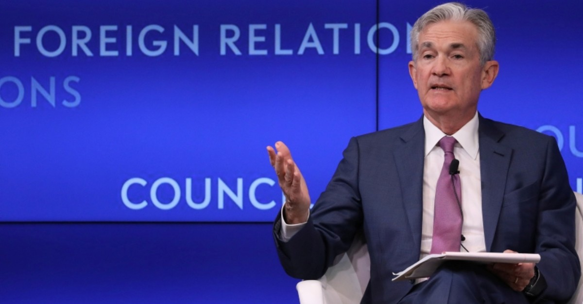 Federal Reserve Chairman Jerome Powell speaks speaks at ,C. Peter McColough Series on International Economics: A Conversation with Jerome H. Powell, at the Council on Foreign Relations in New York, U.S., June 25, 2019. (Reuters Photo)