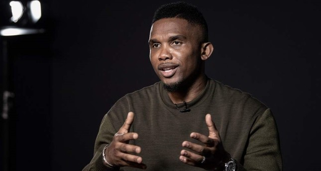 Samuel Eto'o poses during a photo session, Paris, Oct. 24, 2019. (AFP Photo)