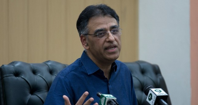 Pakistan's Finance Minister Asad Umar addresses a news conference in Islamabad, Pakistan, Thursday, April 18, 2019. AP Photo
