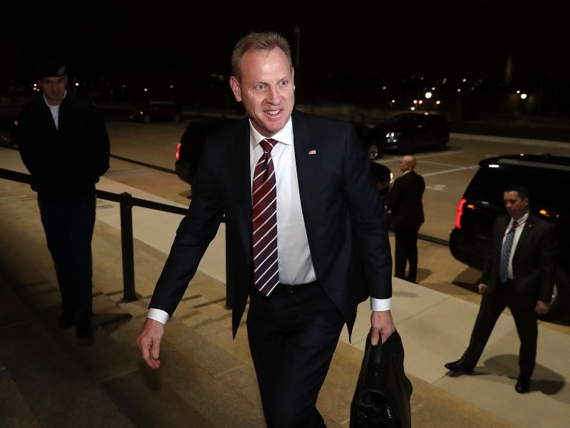 Acting U.S. Defense Secretary Patrick Shanahan arrives at the Pentagon for the first time in his official capacity, on January 2, 2019 in Arlington, Virginia.  (AFP Photo)