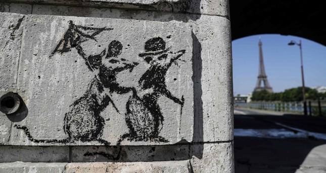 Banksys Paris Street Art Blitz A Tribute To Rebels Of 1968