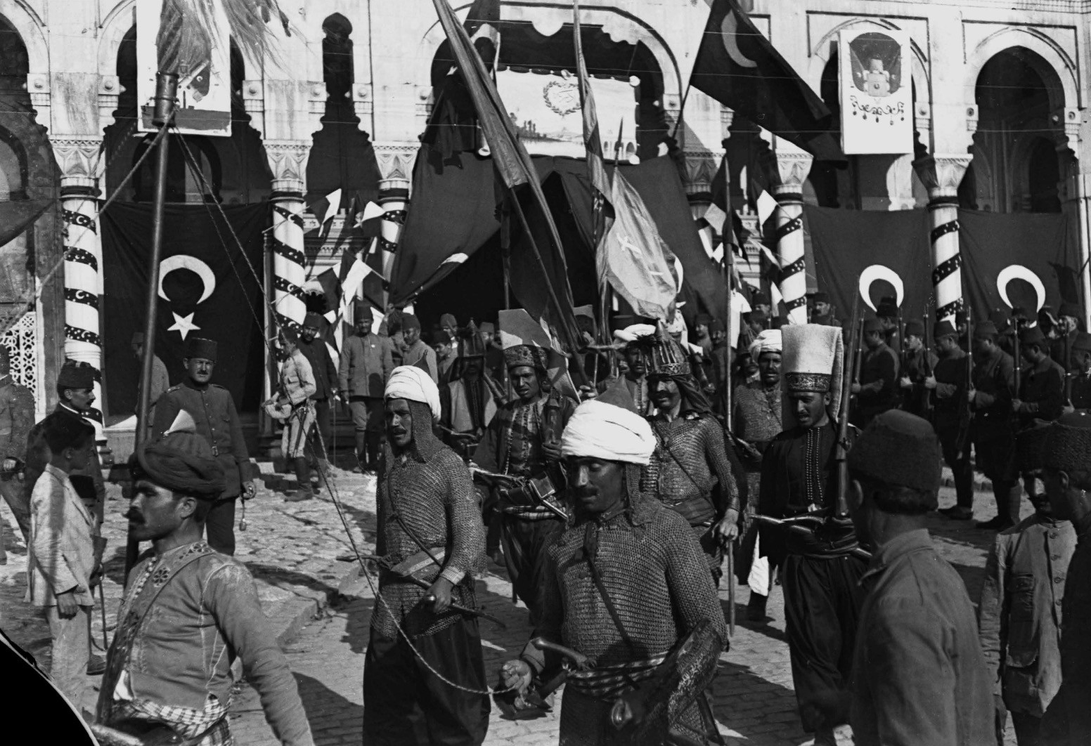 Ottoman Independence March, Taksim Barracks,  circa 1914.