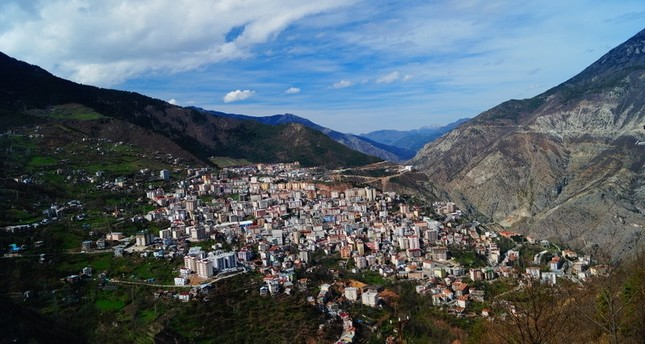 An aerial view of northeastern Turkey's city of Artvin.