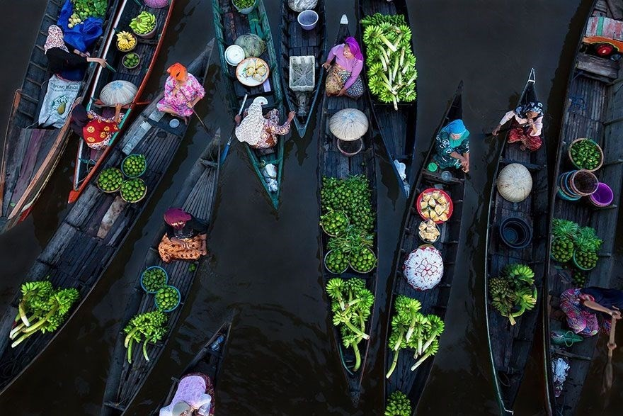 Floating Market, Indonesia - 1st place in Splash Of Colors category