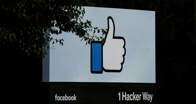 The entrance sign to Facebook headquarters is seen in Menlo Park, Calif., Wednesday, Oct. 10, 2018. (Reuters Photo)