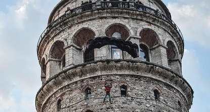 pTurkey's best known BASE jumper on Thursday successfully leapt from the iconic Galata Tower in Istanbul, following in the footsteps of a legendary Ottoman aviator almost four centuries...