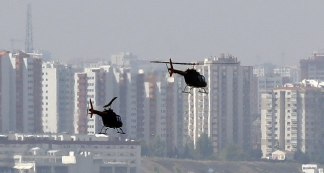 Helicopters over Ankara as military base moves