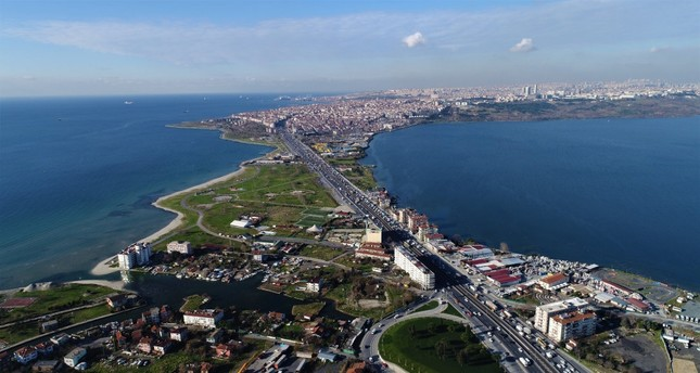 The 45-kilometer nearly 28 miles Canal Istanbul, to be built in the city's Küçükçekmece-Sazlıdere-Durusu corridor, is to boast a capacity of 160 vessels a day.