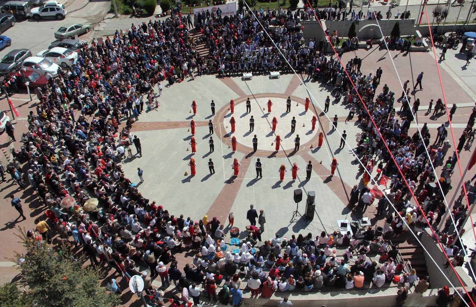 Millions of children throughout Turkey mark National Sovereignty and Children's Day with dances and celebrations