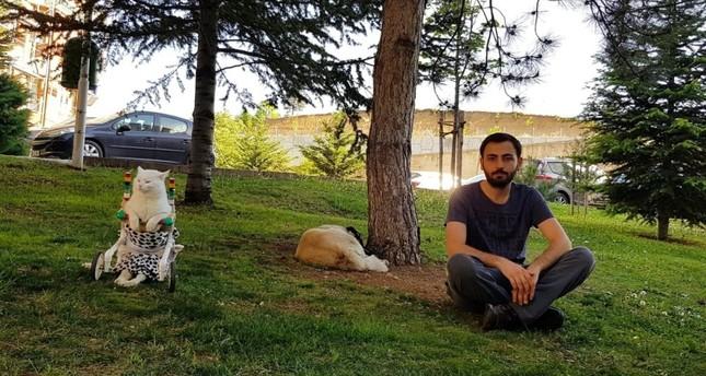 Koca Kafa and Eren Güder enjoy their free time at a park in Ankara.