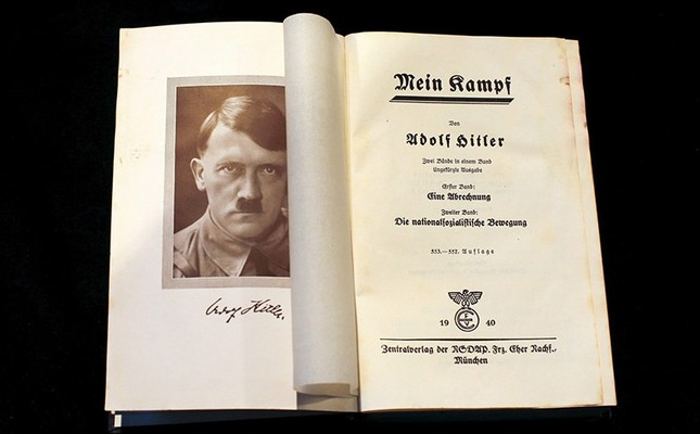 A copy of Adolf Hitler's book Mein Kampf (My Struggle) from 1940 is pictured in Berlin, Germany on Dec. 16, 2015. (Reuters Photo)