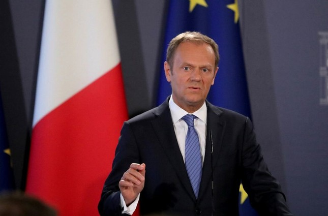 Donald Tusk, President of the European Council issued draft guidelines on how the EU intends to negotiate Britain's departure from the European Union on March 31. (EPA Photo)