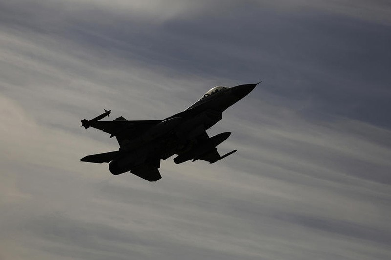 An Israeli F-16 fighter jet flies during a drill in Israel. (Reuters Photo)