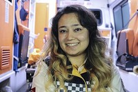 Behind the wheel: Woman ambulance driver Birgül Kuyucuoğlu