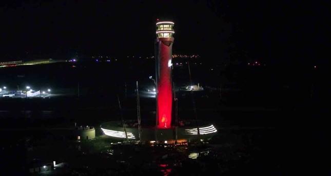 برج المراقبة في مطار إسطنبول الثالث الجديد (الأناضول)