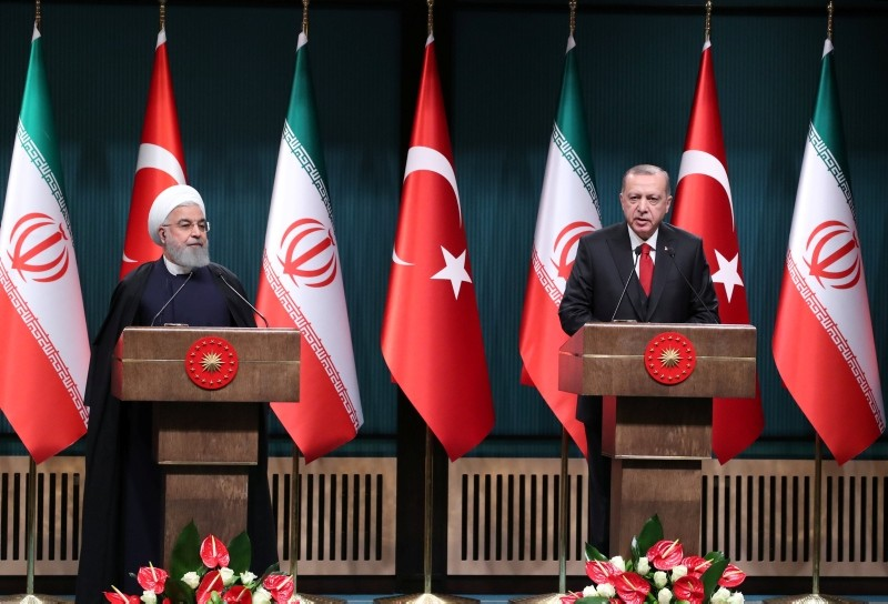 President Tayyip Erdou011fan and his Iranian counterpart Hassan Rouhani hold a joint news conference after their meeting in Ankara, Turkey, Dec. 20, 2018. (Reuters Photo)