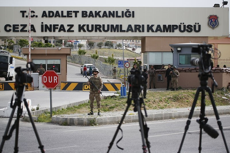 Cameras of members of the media are placed across from the prison complex in Aliau011fa, Izmir province, western Turkey, where jailed pastor Andrew Craig Brunson appeared on his trial at a court inside the complex, Monday, April 16, 2018. (AP Photo)
