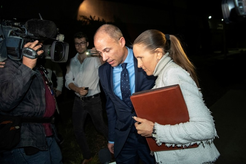 Michael Avenatti leaves the Los Angeles Police Department Pacific Division after posting bail for a felony domestic violence charge, Wednesday, Nov. 14, 2018. (AP Photo)
