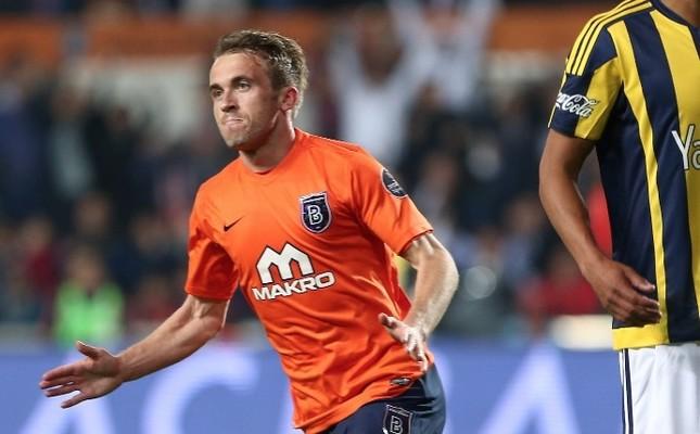 Edin Visca scored Başakşehir's first goal against Göztepe in Monday's match.