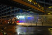 Hong Kong police fire water cannon at protesters as violence lull ends
