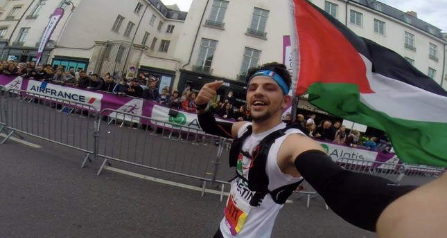 Mohammad Alqadi seen running in Run in Lyon event on Oct. 3, 2017. (Photo: Twitter / @ALQadiPAL)
