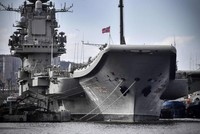 Russia's only aircraft carrier catches on fire during repair works