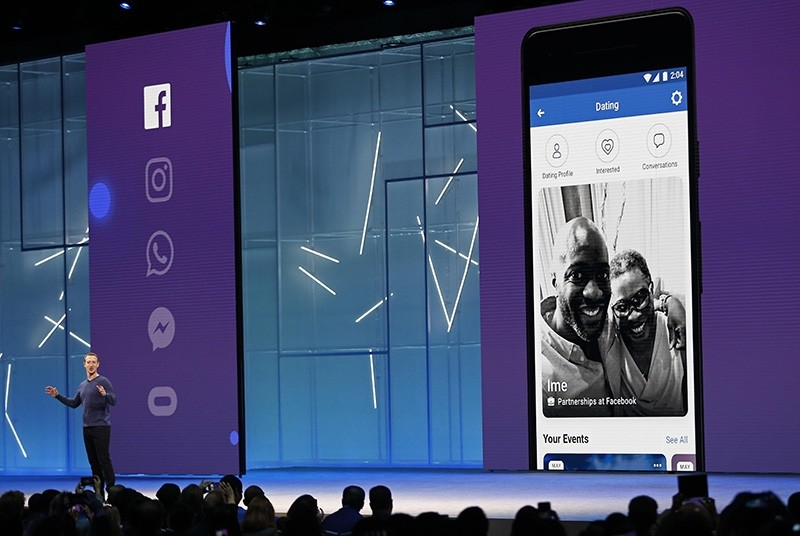 Facebook CEO Mark Zuckerberg speaks about a dating feature at Facebook Inc's annual F8 developers conference in San Jose, California, U.S. May 1, 2018. (Reuters Photo)