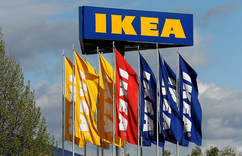 Flags and the company's logo are seen outside of an IKEA Group store in Spreitenbach, Switzerland April 27, 2016. (Reuters Photo)