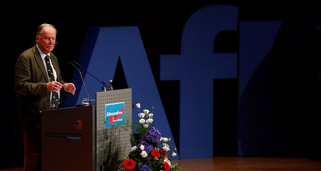Alexander Gauland of Germany's far-right Alternative for Deutschland (AfD) speaks during a campaign in Pforzheim, Germany September 6, 2017. (Reuters Photo)