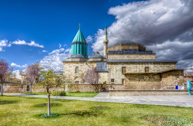 The Shrine of Rumi, the last resting place of the great Sufi poet, is now a place of pilgrimage.