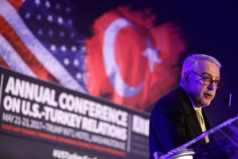 Turkish Ambassador to the United States Serdar Ku0131lu0131u00e7 speak to the Conference on U.S.-Turkey Relations in Washington, U.S., May 22, 2017 (Reuters Photo)