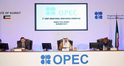 pA joint committee of ministers from OPEC and non-OPEC oil producers recommended extending by six months a global deal to reduce oil output, a draft press release from their meeting on Sunday...
