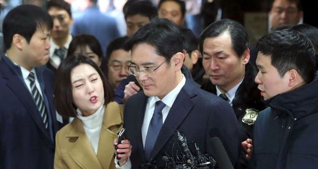 Lee Jae-Yong (C), Samsung Electronics vice chairman and the son of Samsung group chairman Lee Kun-Hee. (AFP Photo)