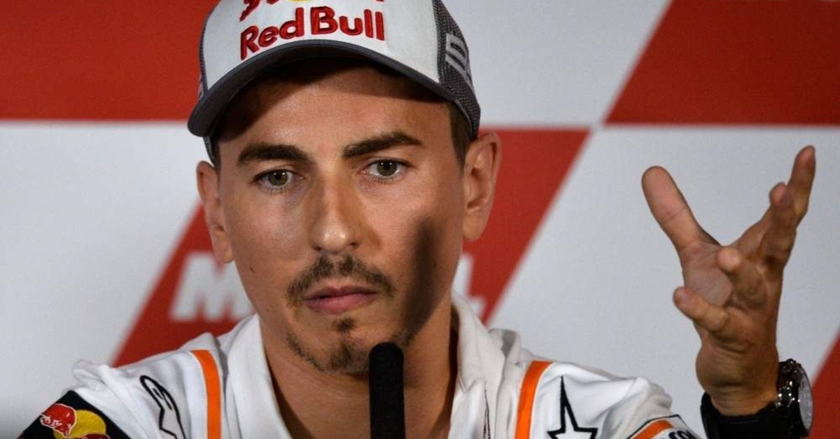 Lorenzo holds a press conference announcing his retirement in Cheste near Valencia, Nov. 14, 2019. (AFP Photo)