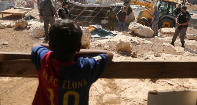 AA Symbolfoto: Israelis zerstören Unterkünfte von Palästinensern