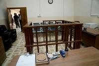 قفص وقوف المتهمين في نينوى (AP)