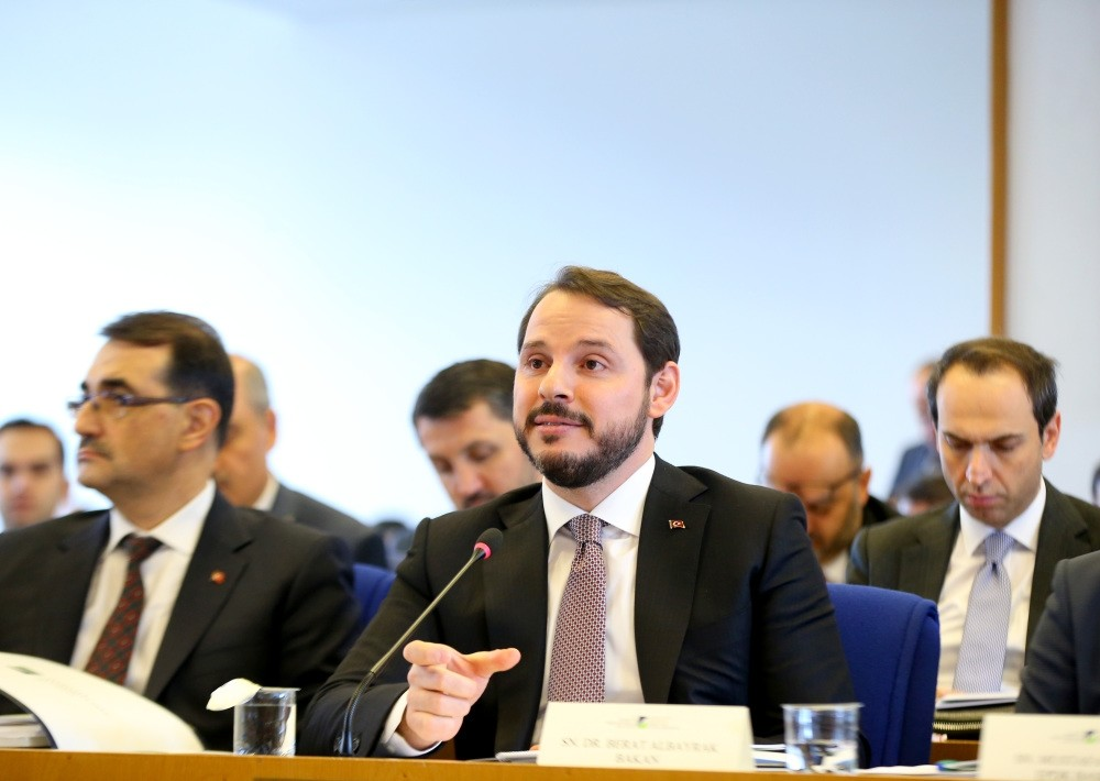 Energy Minister Albayrak delivered a presentation on the budget of his ministry at Parliament and explained the ministry's accomplishments and ongoing projects.