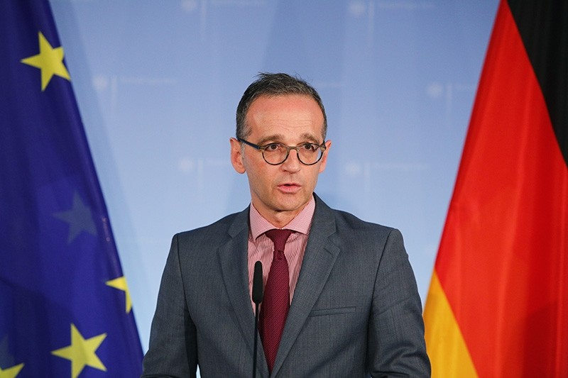 German Foreign Minister Heiko Maas delivers a statement to the press at the German Ministry of Foreign Affairs, in Berlin, Germany, Nov. 15, 2018. (EPA Photo)
