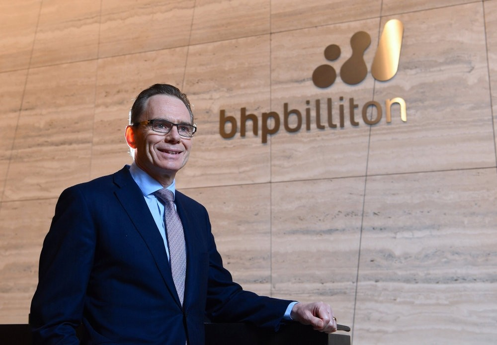 BHP Billiton CEO Andrew Mackenzie in the company's Melbourne office.