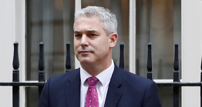 In this file photo dated Wednesday, Nov. 22, 2017, Economic Secretary to the Treasury Stephen Barclay poses outside 11 Downing Street in London. (AP Photo)