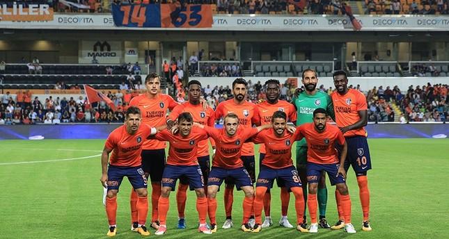 Istanbul's Medipol Başakşehir team ahead of their third qualifying round tie against Belgium's Club Brugge, Istanbul, Turkey, August 2, 2017. (AA Photo)