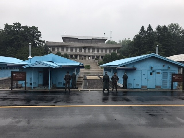 Panmunjom from the South Korean side of the Demilitarized Zone, July 8, 2017. (Photo by Merve u015eebnem Oruu00e7)