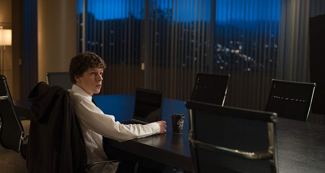 "Jesse Eisenberg plays the founder of Facebook, Mark Zuckerberg, in ""The Social Network."""