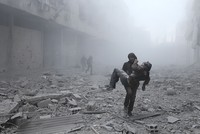 Airstrikes on the opposition-held Syrian region of Eastern Ghouta, on the outskirts of the capital Damascus, killed 17 civilians and wounded 60 others on Saturday, a monitor said.  Syrian and...