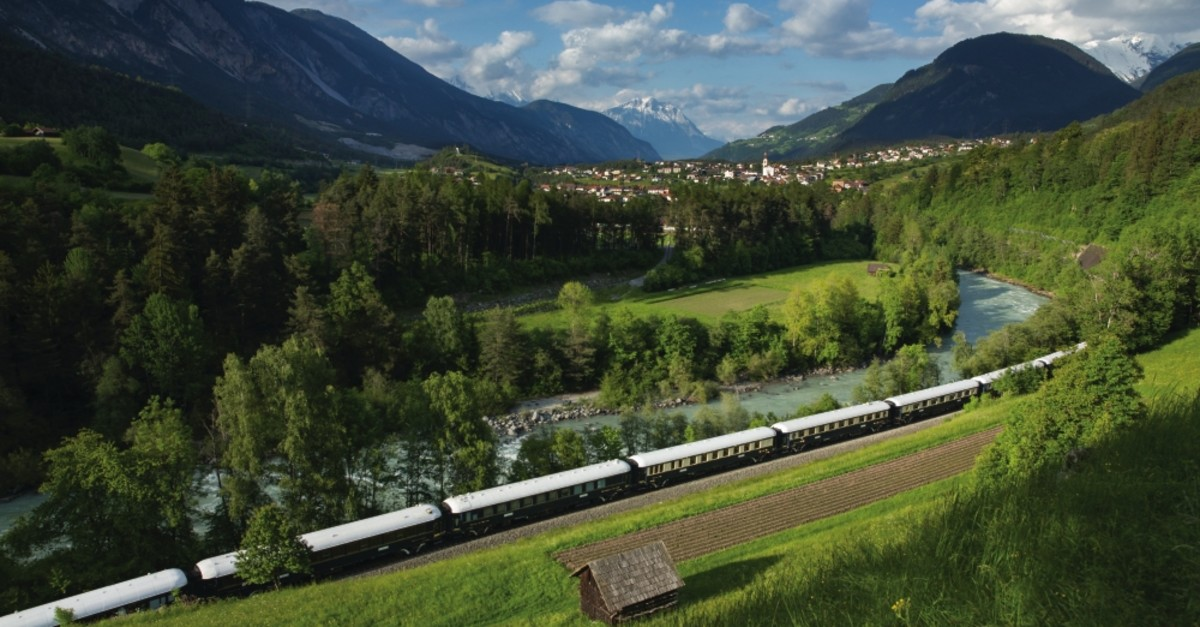 The Venice Simplon-Orient-Express provides an enjoyable journey accompanied by fantastic scenery for passengers.