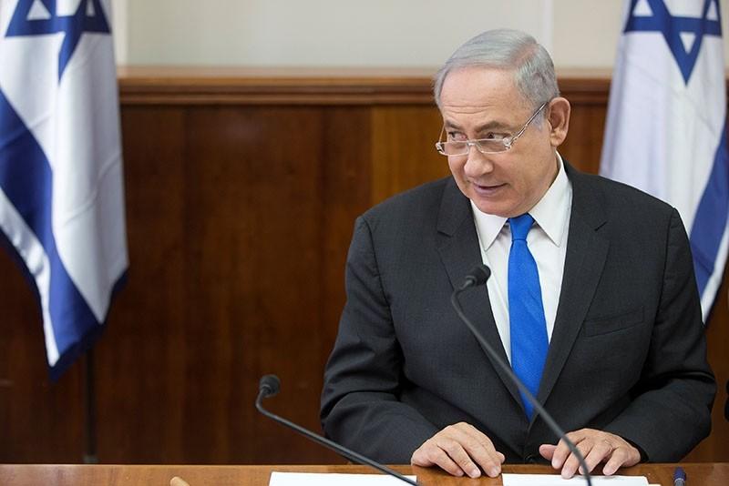 Israeli Prime Minister Benjamin Netanyahu chairs a weekly cabinet meeting in Jerusalem May 7, 2017. (Reuters Photo)