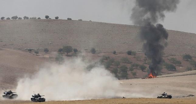 Aufnahmen des Einsatzes in Nordsyrien zur Befreiung von Dscharabulus.